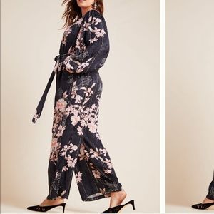 ANTHROPOLOGIE l Harlyn Andria Jacquard Jumpsuit